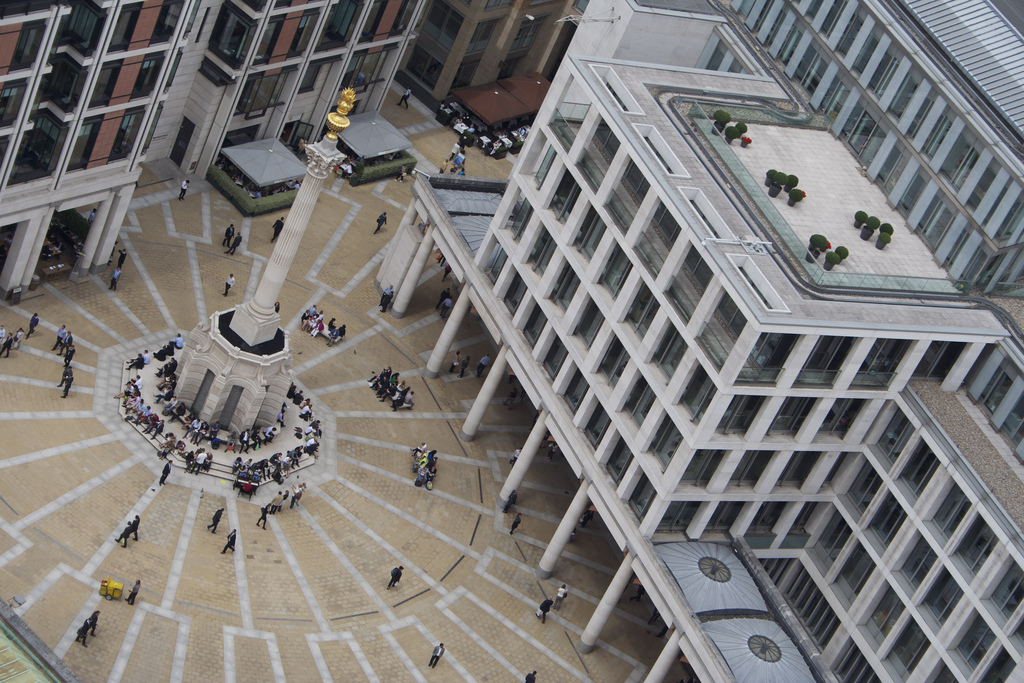 Fortune is set to favour the brave investor Elias Gayles Paternoster sqaure as seen from st pauls cathedral london stock exchange