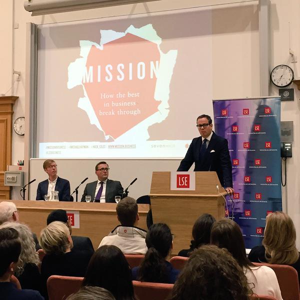 Michael Hayman and Nick Giles at LSE