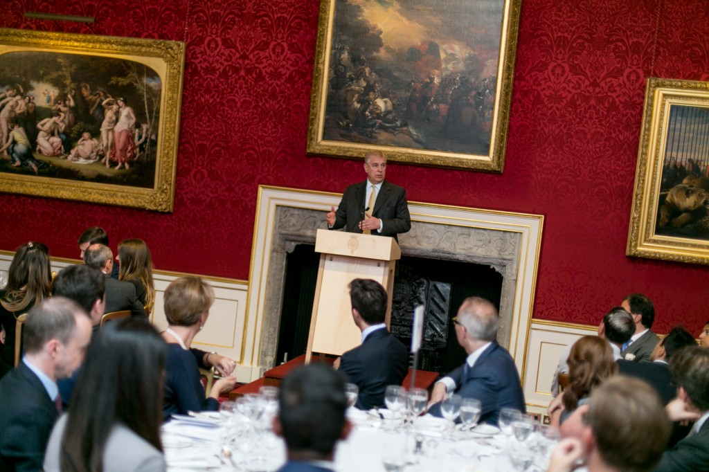 The Duke of York at the One Young World dinner