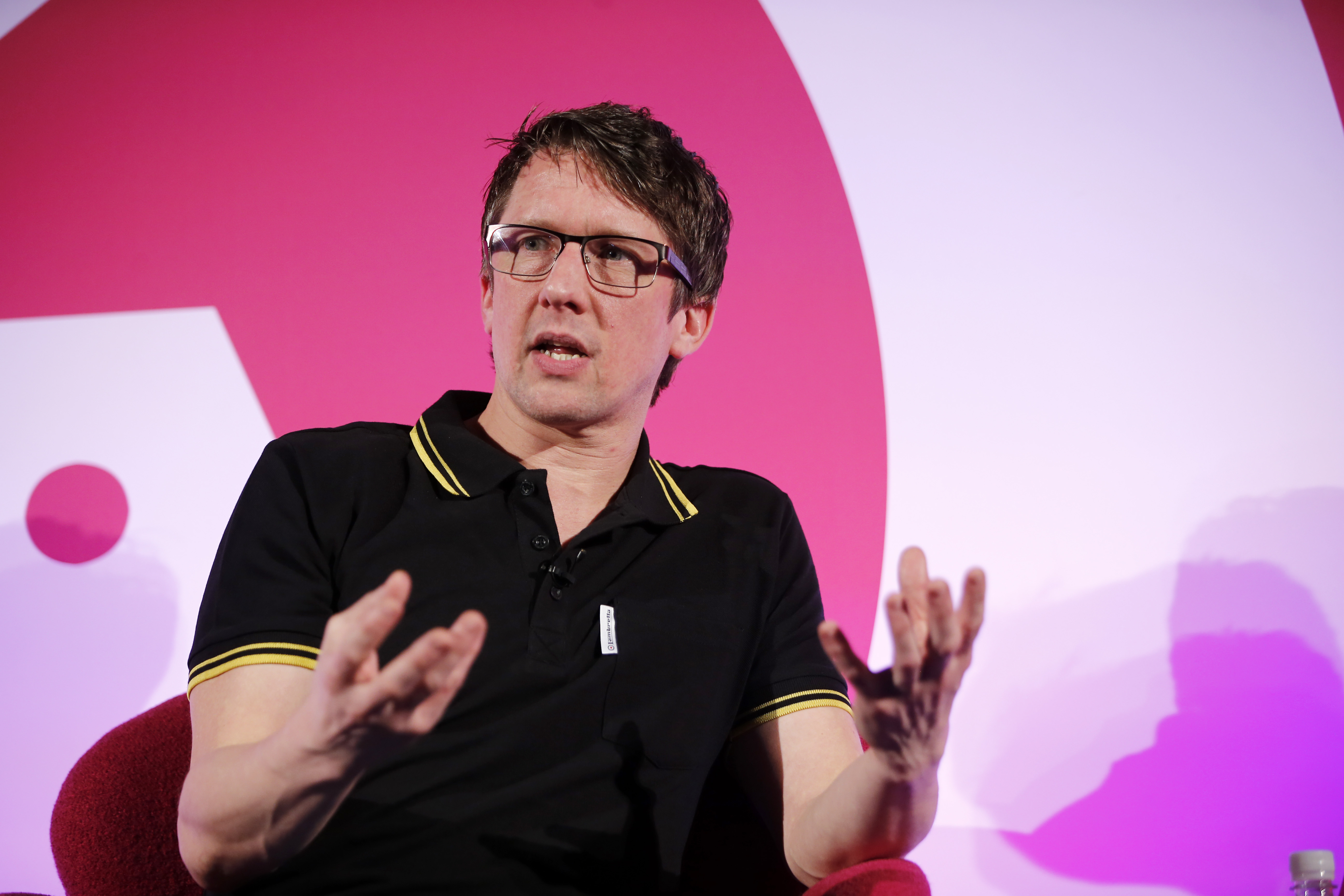 When Satire Met Social: Jonathan Pie seminar, Advertising Week Europe 2017, Fast Company Stage, Picturehouse Central, London, UK