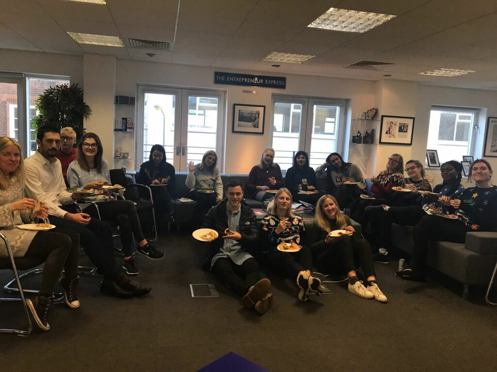 Xmas jumper day and pizza