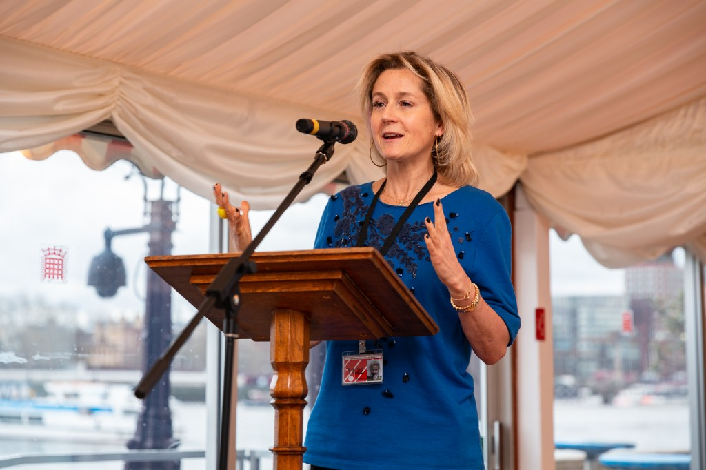 Martha Lane Fox addresses the crowd at the f-entrepreneur event at the House of Lords yesterday