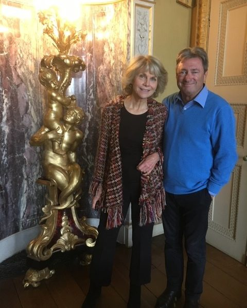 Recording a TV programme with Alan Titchmarsh
