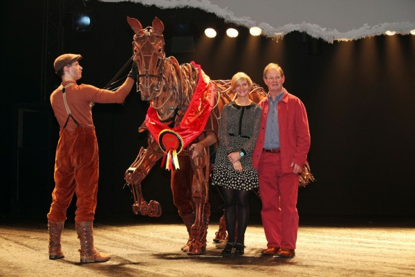 Marianne Elliot (co-Director) and Michael Morpurgo (author) photo by Ell...